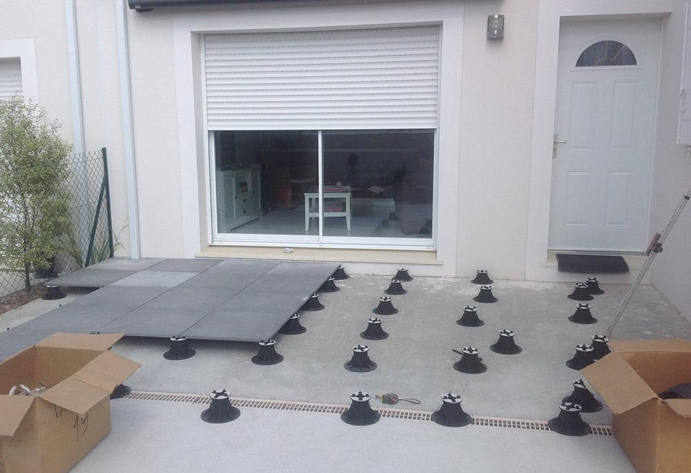 Carrelage r novation de maison humbert 64 merlier for Pose dallage exterieur